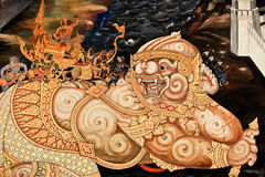 Buddhist temple wall. Stock Image