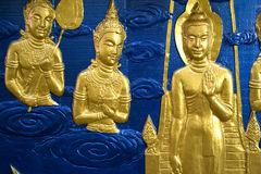 Buddhist Temple Wall Sculpture Stock Image