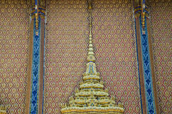 Buddhist temple wall. Of thailand Royalty Free Stock Photo