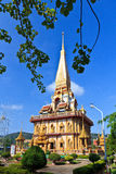 Buddhist temple Wat Chalong Royalty Free Stock Photo