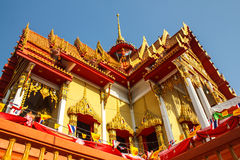 Buddhist temple Wat on chonburi in thailand Stock Photo