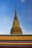 Buddhist temple, Wat Pho in Bangkok, Landmark and No. 1 tourist attractions in Thailand. Royalty Free Stock Photography
