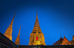 Buddhist temple, Wat Pho in Bangkok, Landmark and No. 1 tourist attractions in Thailand. Stock Photo
