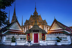 Buddhist temple, Wat Pho temple in Bangkok, Landmark and No. 1 tourist attractions in Thailand. Royalty Free Stock Photo