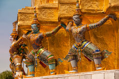 Wat Phra Kaeo guardians Stock Photography