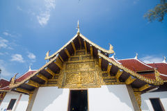 Buddhist temple,Wat Phra That Sri Jom Thong Stock Image