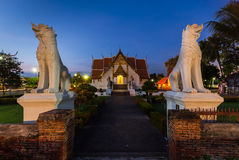Buddhist temple of Wat Phumin. In the North of Thailand Royalty Free Stock Photography