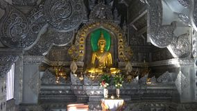 In the Buddhist temple Wat Sri Suphan Silver temple. Chiang Mai, Thailand. In the Buddhist temple Wat Sri Suphan Silver temple. Chiang Mai. Thailand stock footage