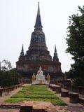 Buddhist temple at Wat Yai Chaya Mongkol. Buddhist statues at Wat Yai Chaya Mongkol Ayutthaya Royalty Free Stock Photo