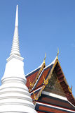 Buddhist Temple. White pagoda alongside the Buddhist Temple Stock Images