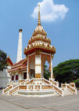 Buddhist temple white pagoda in Thailand Royalty Free Stock Image
