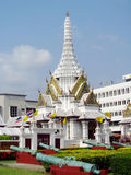 Buddhist temple white pagoda in Thailand Royalty Free Stock Photography