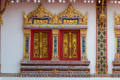 Buddhist temple window Stock Images
