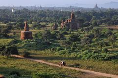 Buddhist temples in Bagan Stock Photo