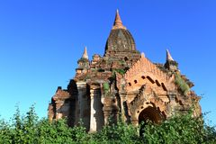 Buddhist temples in Bagan Royalty Free Stock Photos