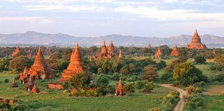 Buddhist temples in Bagan Royalty Free Stock Image