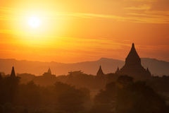 Buddhist Temples at Bagan Kingdom, Myanmar (Burma) Stock Photography