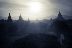 Buddhist Temples at Bagan Kingdom, Myanmar (Burma) Royalty Free Stock Photography
