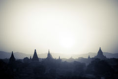 Buddhist Temples at Bagan Kingdom, Myanmar (Burma) Royalty Free Stock Photo
