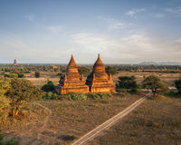 Buddhist Temples at Bagan Kingdom, Myanmar (Burma) Stock Photos