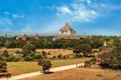 Buddhist Temples at Bagan Kingdom, Myanmar (Burma) Stock Image