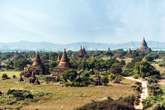 Buddhist Temples at Bagan Kingdom, Myanmar (Burma) Royalty Free Stock Photos
