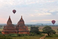 Buddhist temples in Bagan Stock Images