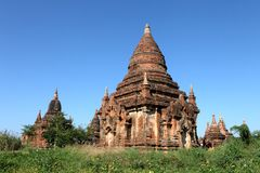Buddhist temples in Bagan Royalty Free Stock Images