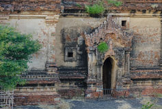 Buddhist temples in Bagan, Myanmar. Details of ancient Buddhist temple in Bagan, Myanmar. Bagan is one of the world greatest archeological sites, a sight to Stock Images