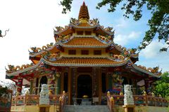 Buddhist temples With the Chinese style. stock photo