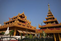 Buddhist temples of Myanmar Stock Photo