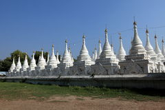 Buddhist temples and pagodas of Mandalay in Myanmar Royalty Free Stock Image