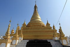 Buddhist temples and pagodas of Mandalay in Myanmar Stock Images