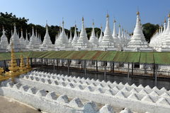 Buddhist temples and pagodas of Mandalay in Myanmar Royalty Free Stock Photography