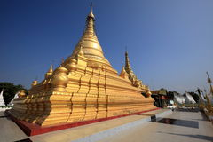 Buddhist temples and pagodas of Mandalay in Myanmar Stock Image