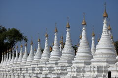 Buddhist temples and pagodas of Mandalay in Myanmar Stock Photo