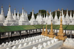 Buddhist temples and pagodas of Mandalay in Myanmar Royalty Free Stock Photos