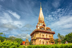 Buddhist temples of Phuket Stock Image