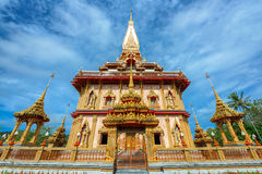 Buddhist temples of Phuket Royalty Free Stock Images