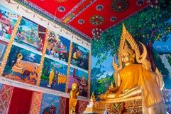 Buddhist temples at Wat Plai Laem in Thailand, Koh Samui Royalty Free Stock Image