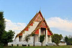 Buddhist Thai temple in former capital Ayutthaya Royalty Free Stock Image