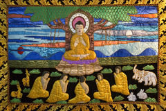 Buddhist Thangka - Chiang Mai - Thailand Stock Photo
