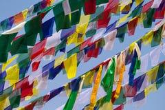 Buddhist Tibetan prayer flags Royalty Free Stock Photo