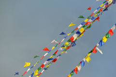 Buddhist Tibetan prayer flags Royalty Free Stock Image