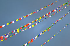 Buddhist Tibetan prayer flags Royalty Free Stock Photography
