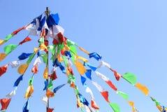 Buddhist tibetan prayer flags Royalty Free Stock Photos