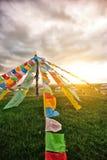 Buddhist tibetan prayer flags Royalty Free Stock Photography