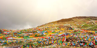Buddhist tibetan prayer flags Royalty Free Stock Photo