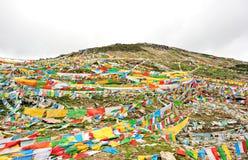 Buddhist tibetan prayer flags Royalty Free Stock Images