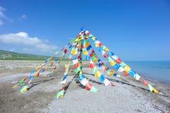 Buddhist tibetan prayer flags Stock Images
